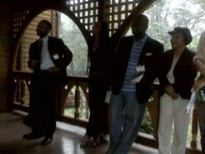 Frank Simmons, Suna Om, Oluyemi Yikealo (President Elect)